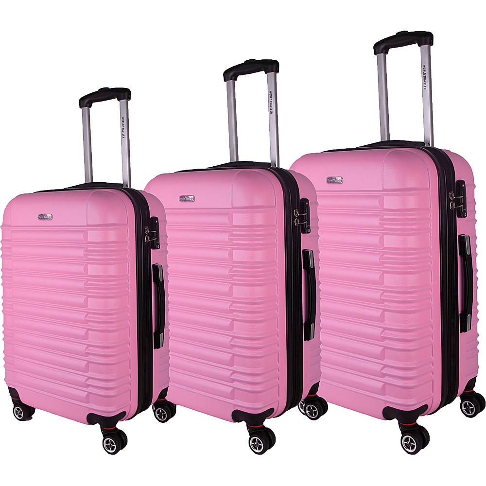 World Traveler California II 3-Piece Hardside Spinner Luggage Set Pink - World Traveler Luggage Sets - Luggage, Luggage Sets