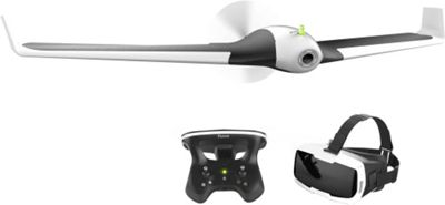 Parrot Disco with Skycontroller and FPV Goggle Fixed Wing Drone White-Black - Parrot Cameras