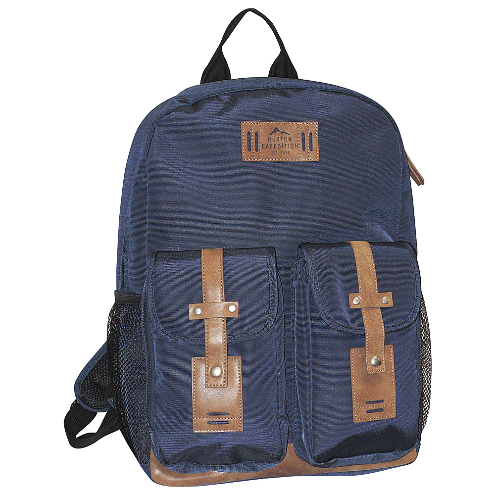Buxton Expedition II Trekker Backpack Navy - Buxton Business & Laptop Backpacks - Backpacks, Business & Laptop Backpacks