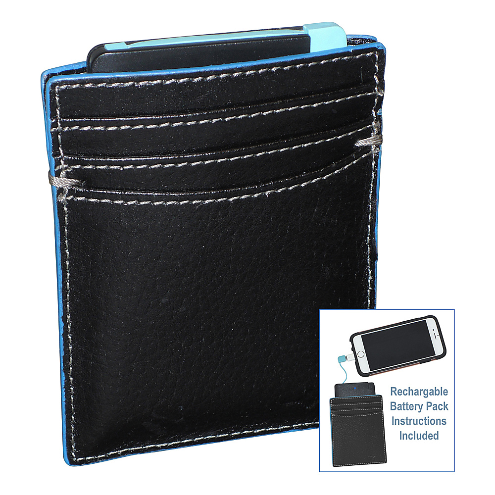 Buxton Walton RFID Battery Wallet Blue - Buxton Mens Wallets - Work Bags & Briefcases, Men's Wallets