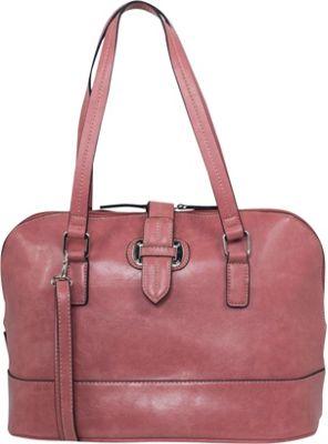 Emilie M Lara Dome Satchel Salmon - Emilie M Manmade Handbags