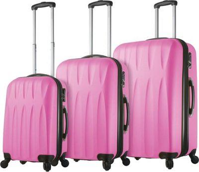Mia Viaggi ITALY Pavia Hardside 3 Piece Spinner Set Bubblegum - Mia Viaggi ITALY Luggage Sets