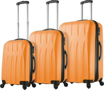 Mia Viaggi ITALY Pavia Hardside 3 Piece Spinner Set Melone - Mia Viaggi ITALY Luggage Sets