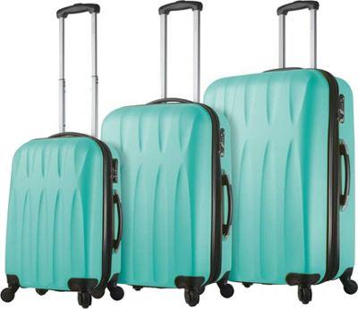 Mia Viaggi ITALY Pavia Hardside 3 Piece Spinner Set Mint - Mia Viaggi ITALY Luggage Sets