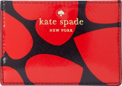 kate spade new york Be Mine Card Holder Black/Red - kate spade new york Women's Wallets