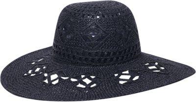 Ale by Alessandra Floresta Floppy Hat One Size - Black - Ale by Alessandra Hats/Gloves/Scarves