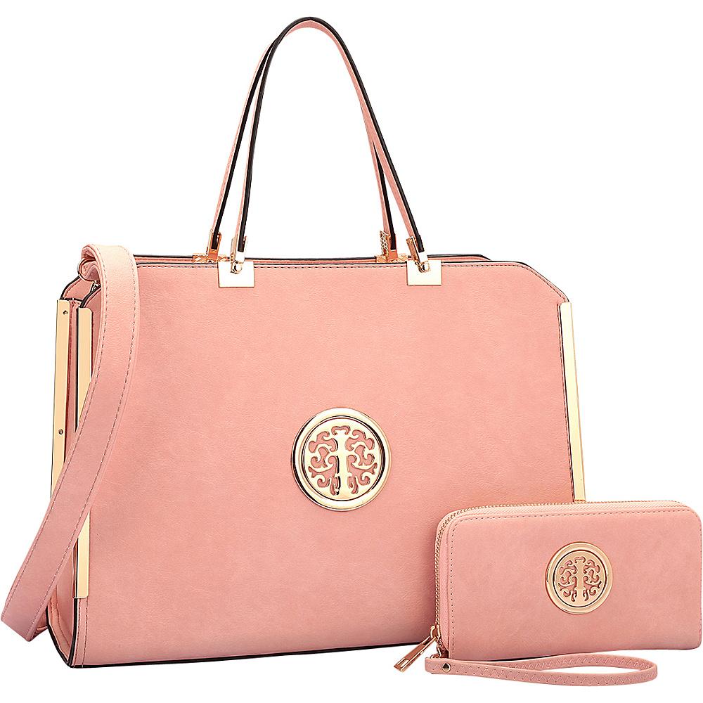 Dasein Briefcase with Matching Wallet Pink - Dasein Non-Wheeled Business Cases - Work Bags & Briefcases, Non-Wheeled Business Cases