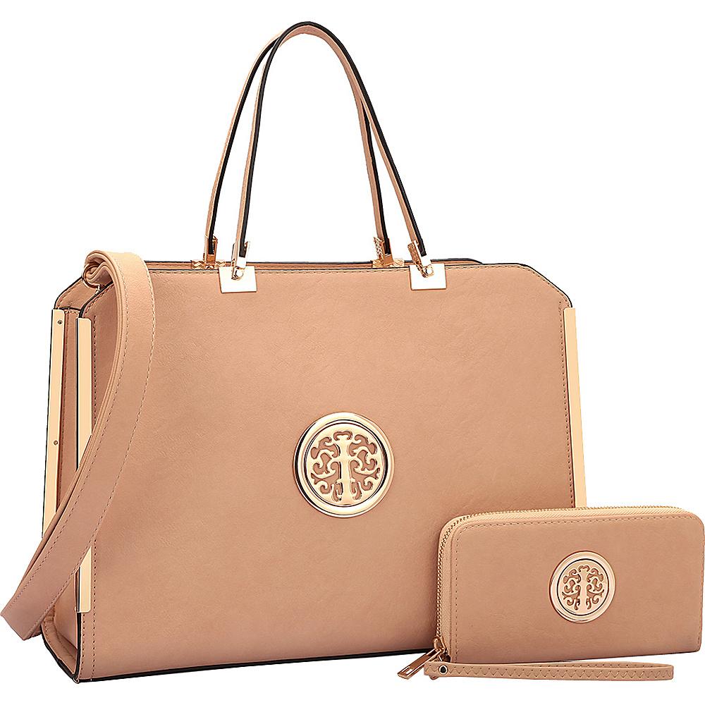 Dasein Briefcase with Matching Wallet Beige - Dasein Non-Wheeled Business Cases - Work Bags & Briefcases, Non-Wheeled Business Cases