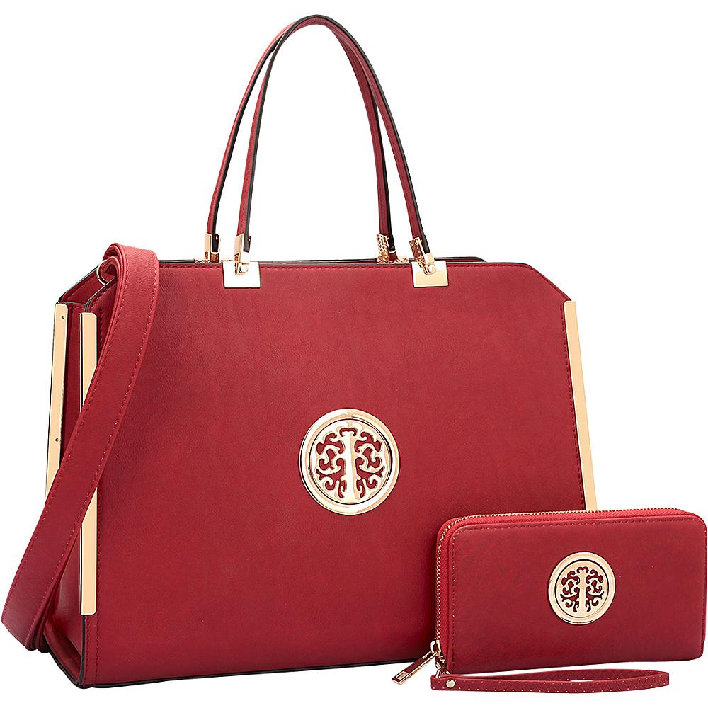 Dasein Briefcase with Matching Wallet Burgundy - Dasein Non-Wheeled Business Cases - Work Bags & Briefcases, Non-Wheeled Business Cases