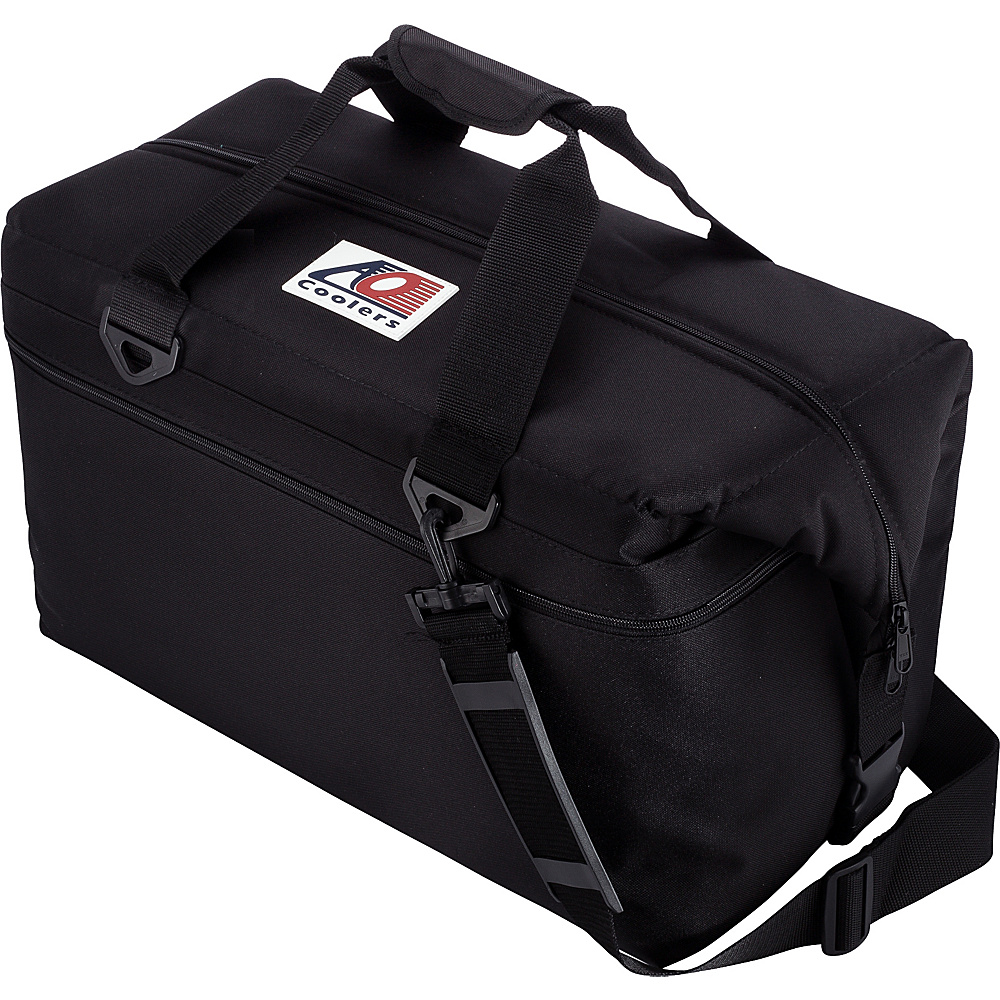 AO Coolers 36 Pack Canvas Soft Cooler Black AO Coolers Outdoor Coolers