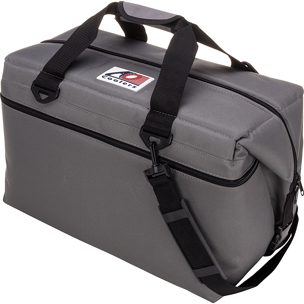 AO Coolers 36 Pack Canvas Soft Cooler Charcoal AO Coolers Outdoor Coolers