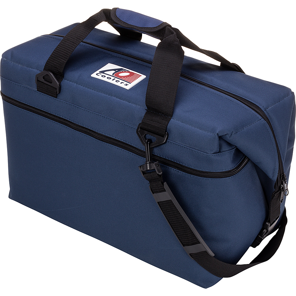 AO Coolers 36 Pack Canvas Soft Cooler Navy Blue AO Coolers Outdoor Coolers