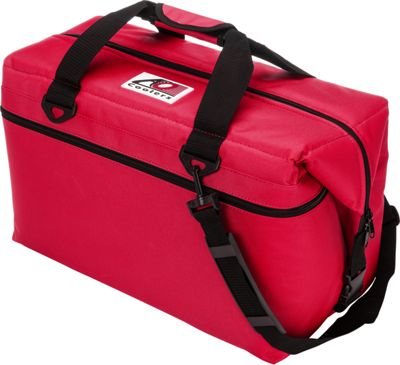 AO Coolers 36 Pack Canvas Soft Cooler Red - AO Coolers Outdoor Coolers
