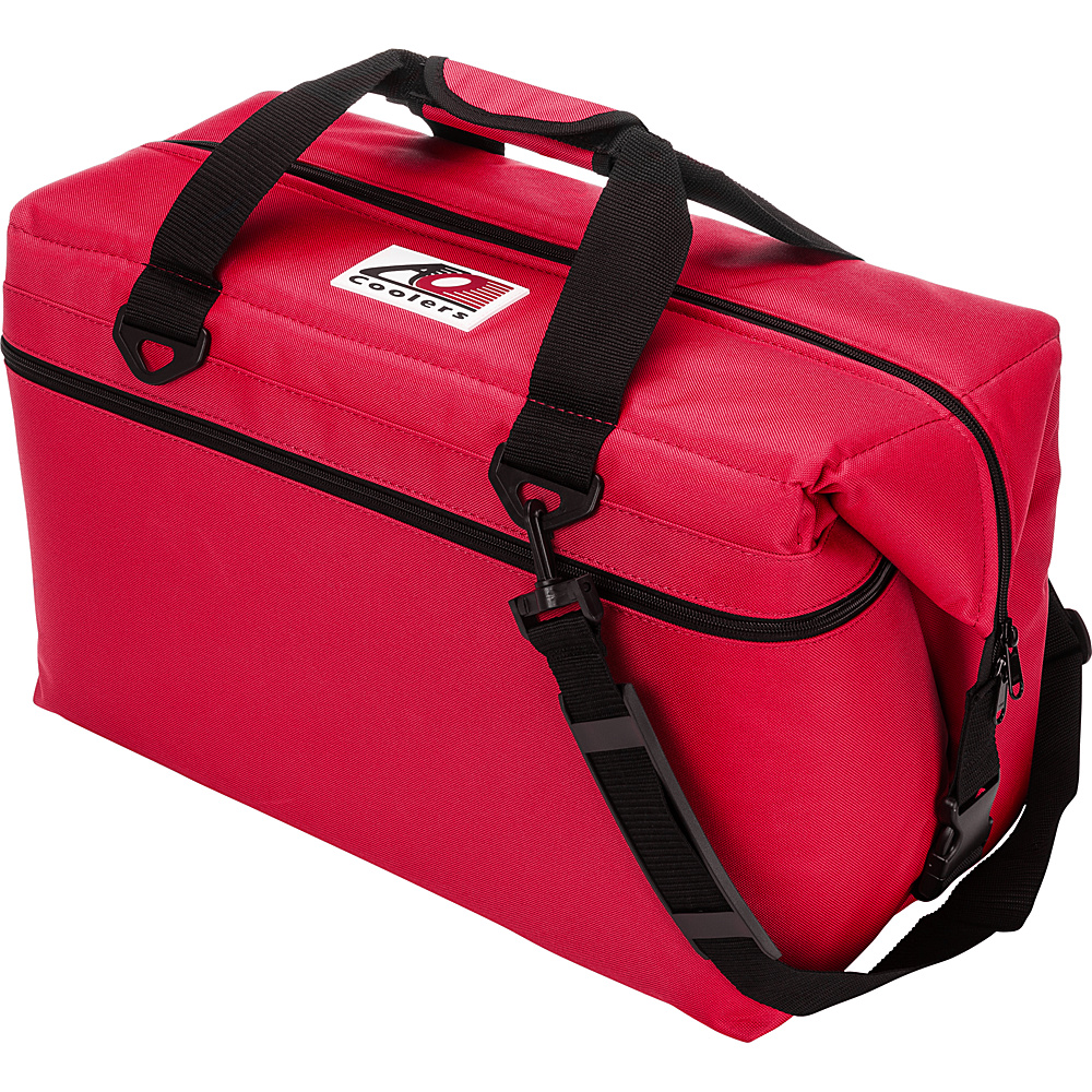 AO Coolers 36 Pack Canvas Soft Cooler Red AO Coolers Outdoor Coolers