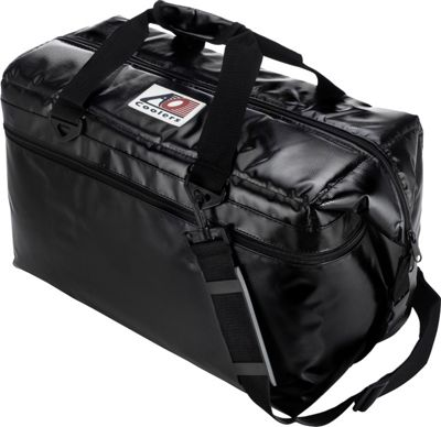 AO Coolers 36 Pack Vinyl Soft Cooler Black - AO Coolers Outdoor Coolers