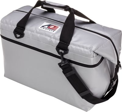 AO Coolers 36 Pack Vinyl Soft Cooler Silver - AO Coolers Outdoor Coolers
