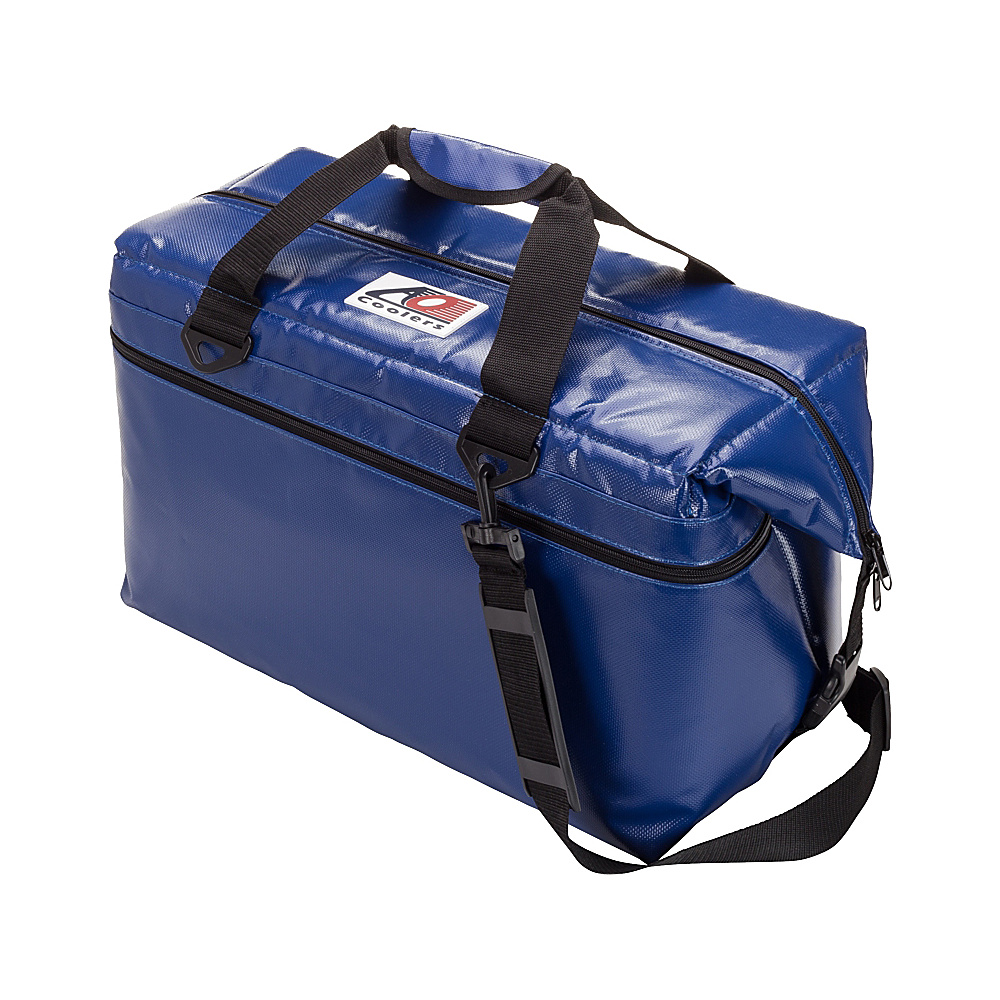 AO Coolers 36 Pack Vinyl Soft Cooler Royal Blue AO Coolers Outdoor Coolers