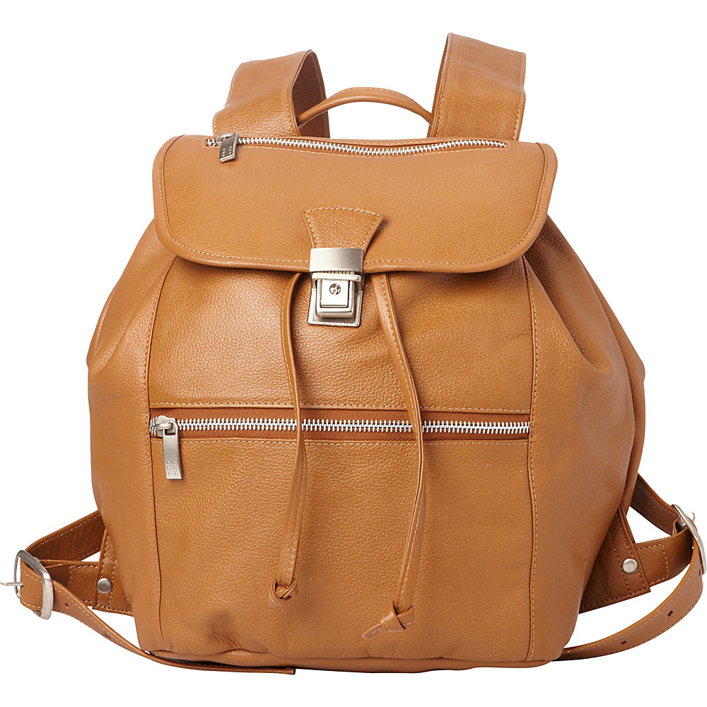 Piel Double Compartment Leather Backpack Saddle - Piel Leather Handbags - Handbags, Leather Handbags