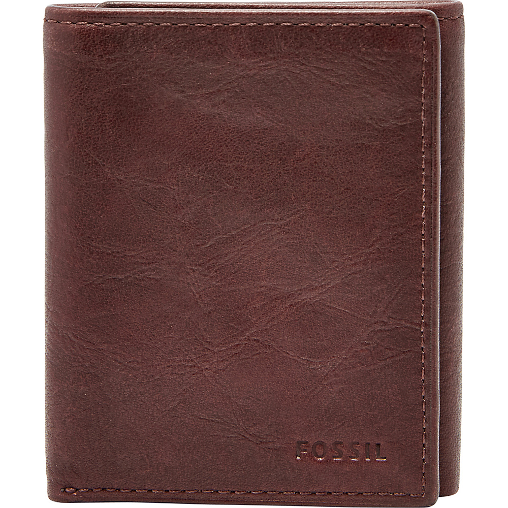 Fossil Ingram RFID Trifold Brown - Fossil Mens Wallets - Work Bags & Briefcases, Men's Wallets