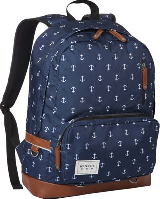 BENRUS Private Backpack Navy Anchor - BENRUS Everyday Backpacks