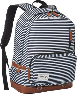 BENRUS Private Backpack Navy Stripe - BENRUS Everyday Backpacks