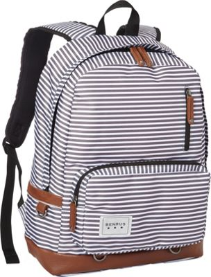BENRUS Private Backpack Charcoal/Silver Srtipe - BENRUS Everyday Backpacks