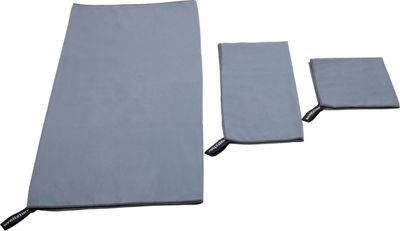 Wellzher 3-Piece Microfiber Travel Sports Towel Set with Free Key Loop Grey - Wellzher Sports Accessories