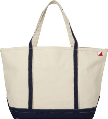 Shorebags Large Classic Pocketed Boat Tote Navy - Shorebags Fabric Handbags