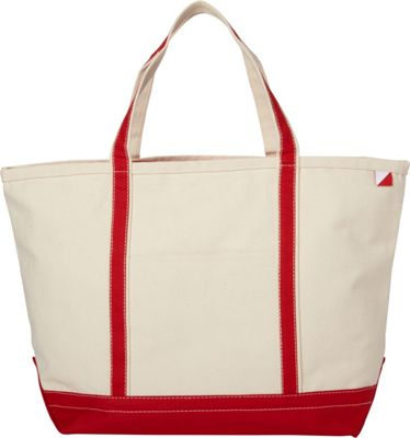 Shorebags Large Classic Pocketed Boat Tote Red - Shorebags Fabric Handbags