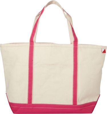Shorebags Large Classic Pocketed Boat Tote Hot Pink - Shorebags Fabric Handbags