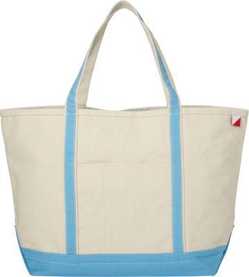 Shorebags Large Classic Pocketed Boat Tote Light Blue - Shorebags Fabric Handbags