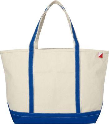 Shorebags Large Classic Pocketed Boat Tote Cobalt Blue - Shorebags Fabric Handbags