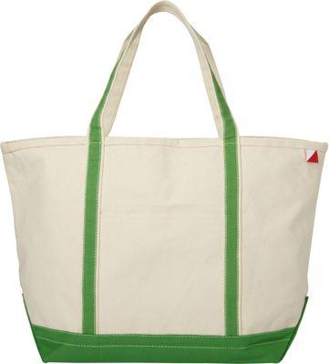Shorebags Large Classic Pocketed Boat Tote Jade Green - Shorebags Fabric Handbags