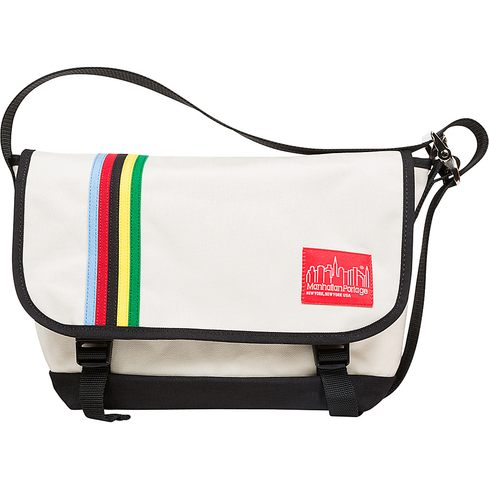 Manhattan Portage Rainbow Stripes Vintage Messenger Bag Jr Ivory - Manhattan Portage Messenger Bags - Work Bags & Briefcases, Messenger Bags