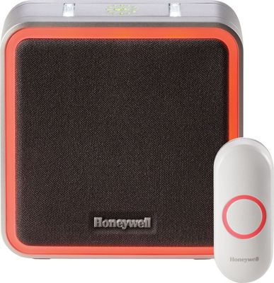 Honeywell Wireless Portable Doorbell with Halo Light and Push Button Grey - Honeywell Smart Home Automation