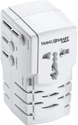 Travel Smart by Conair All-In-One Adapter Combo Unit White - Travel Smart by Conair Electronic Accessories