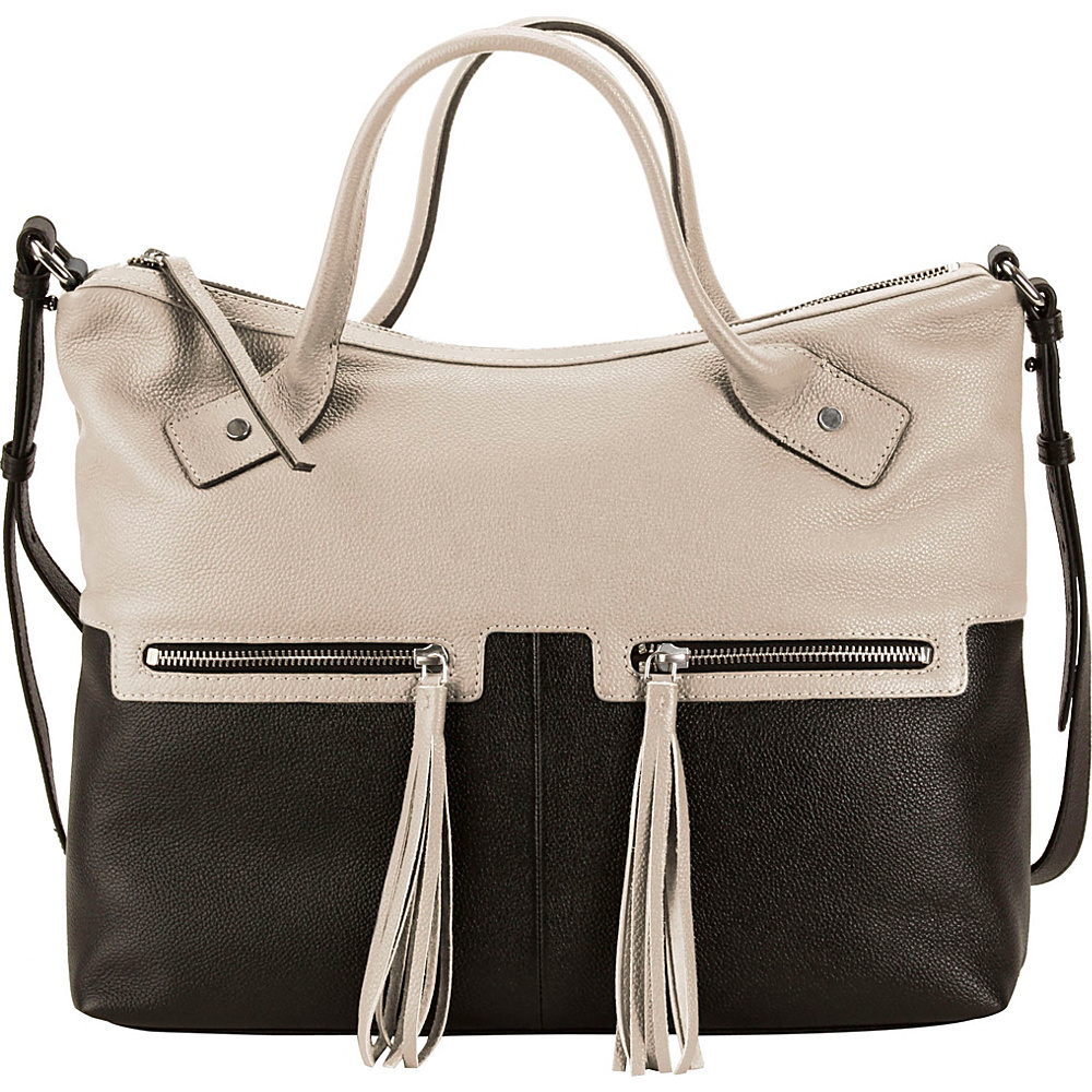 Hadaki Urban Edge Satchel Pearl Gray - Hadaki Leather Handbags - Handbags, Leather Handbags