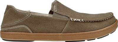 OluKai Mens Puhalu Canvas Slip-On 7 - Mustang/Tan - OluKai Men's Footwear