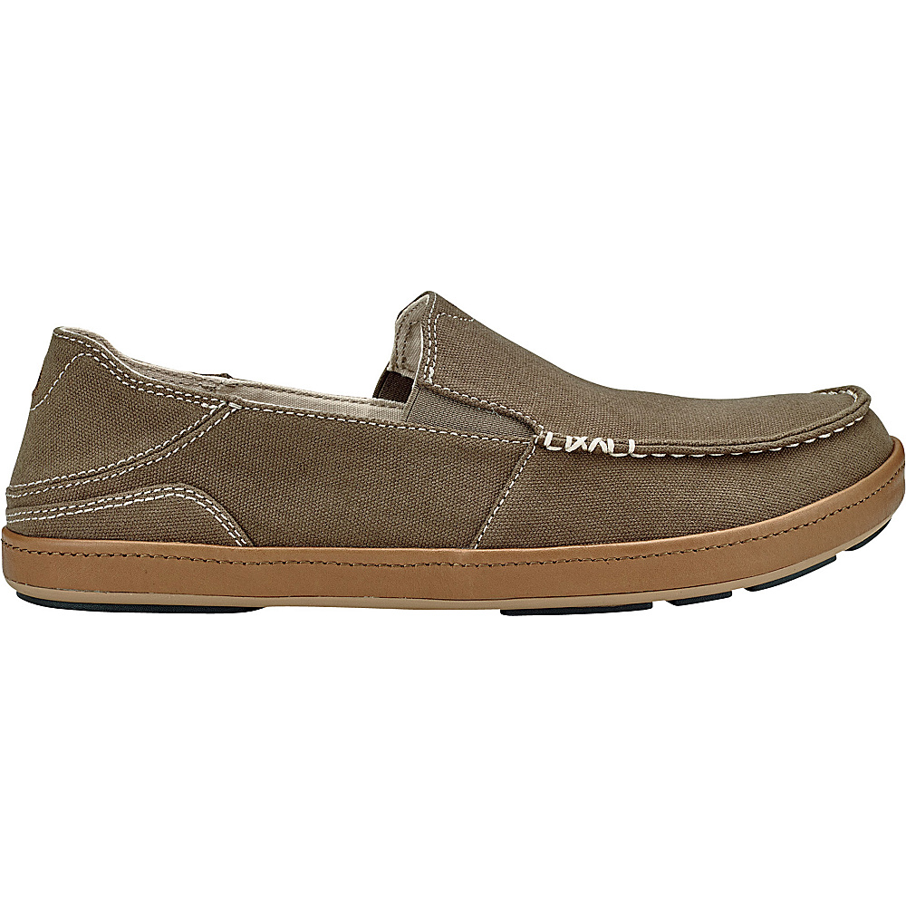 OluKai Mens Puhalu Canvas Slip-On 8 - Mustang/Tan - OluKai Mens Footwear - Apparel & Footwear, Men's Footwear