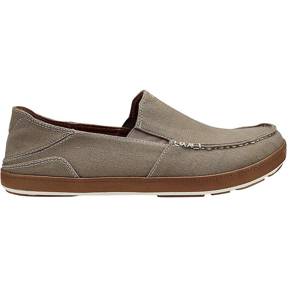 OluKai Mens Puhalu Canvas Slip-On 9.5 - Clay/Toffee - OluKai Mens Footwear - Apparel & Footwear, Men's Footwear