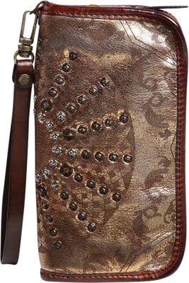 Old Trend Golden Mola Clutch Vintage Gold - Old Trend Leather Handbags