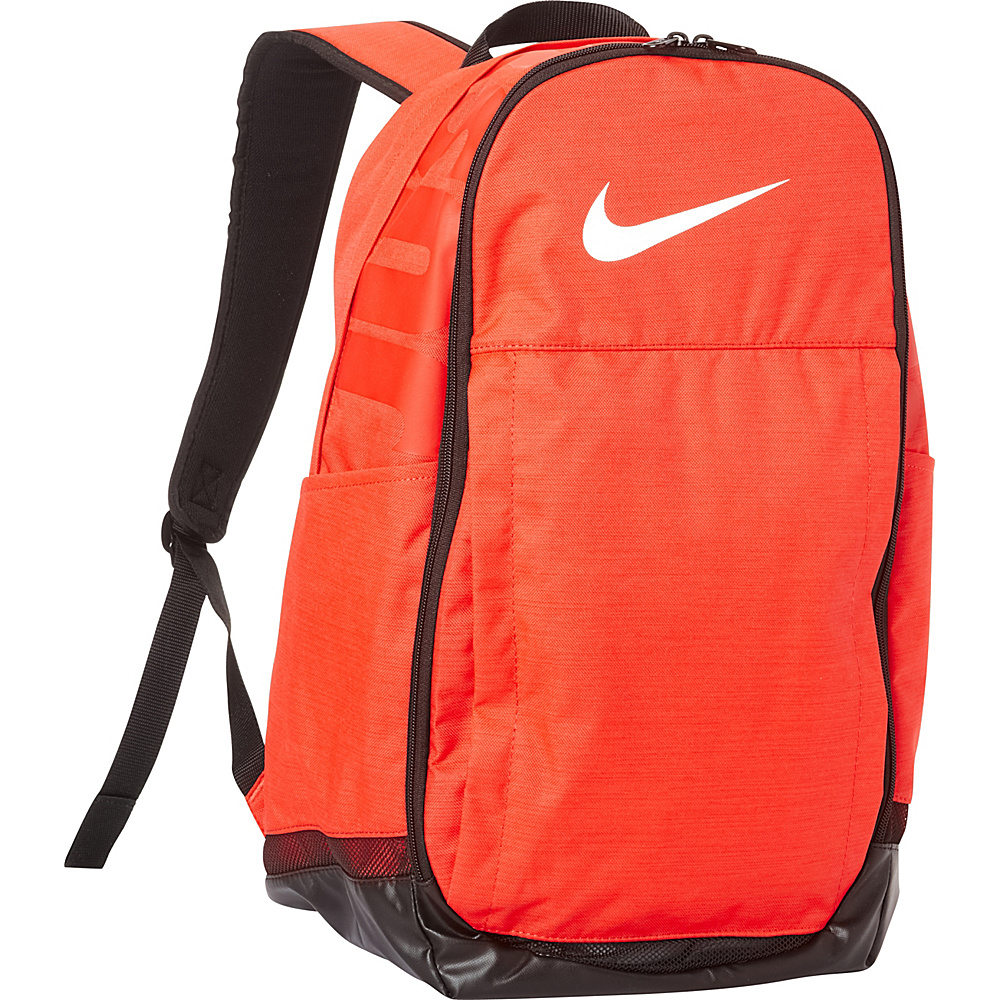 Nike Brasilia 7 XL Laptop Backpack Max Orange Black White Nike Business Laptop Backpacks
