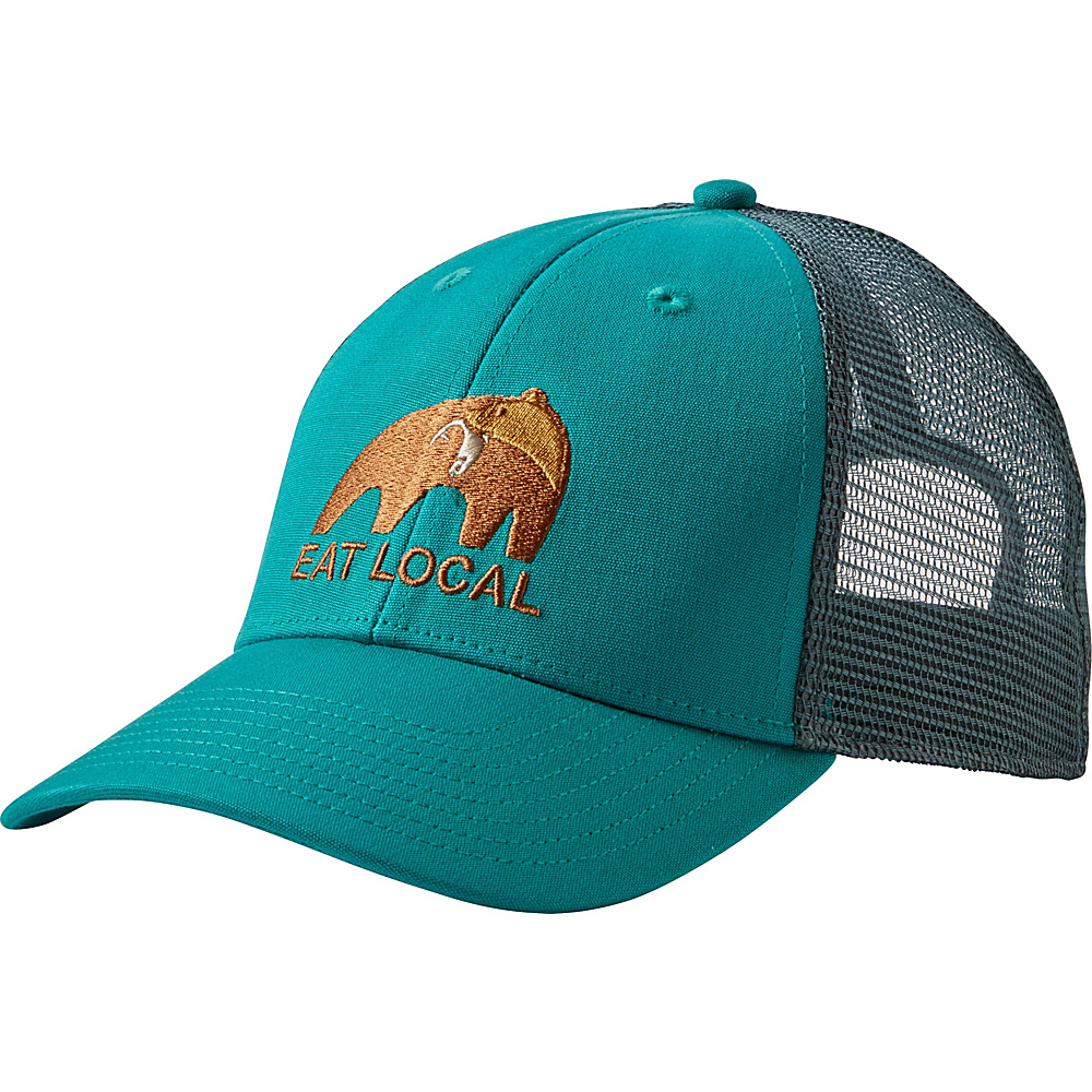 Patagonia Eat Local Upstream LoPro Trucker Hat One Size - True Teal - Patagonia Hats/Gloves/Scarves - Fashion Accessories, Hats/Gloves/Scarves