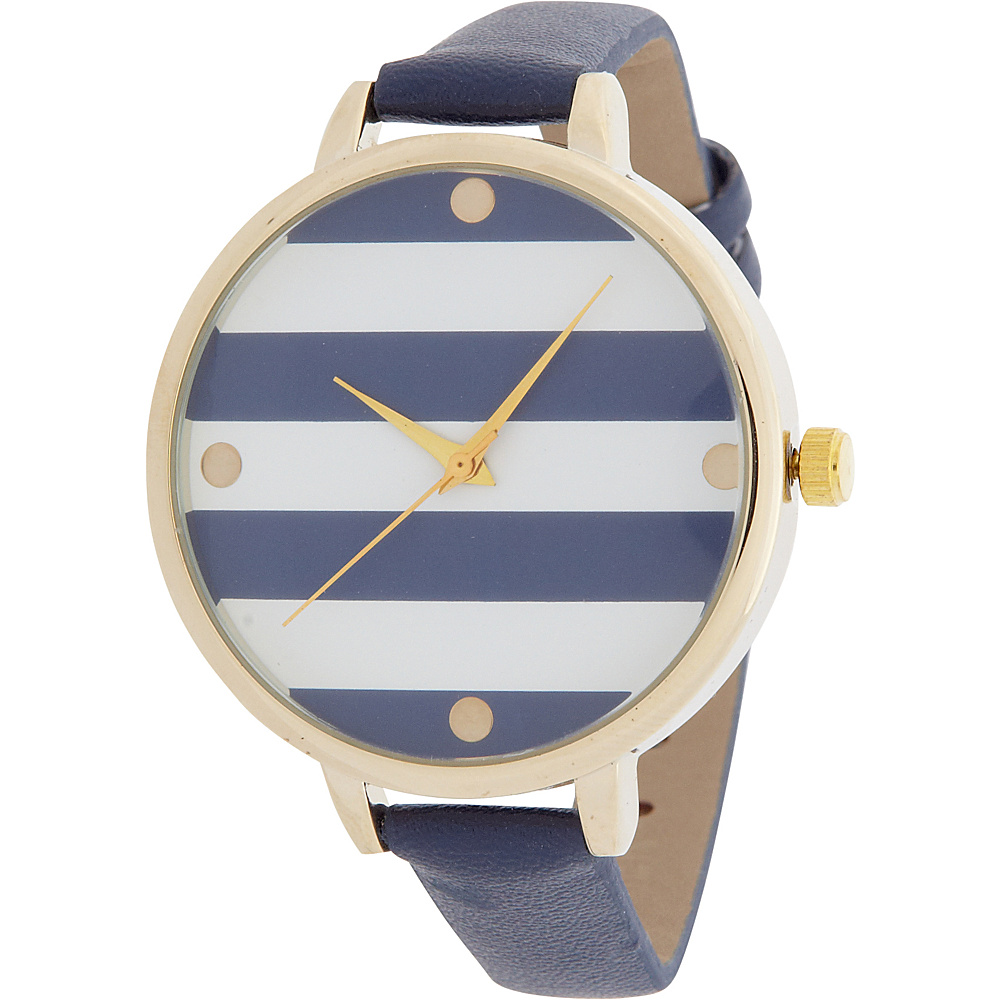 Samoe Stripe Face Watch Navy and White Stripe Samoe Watches