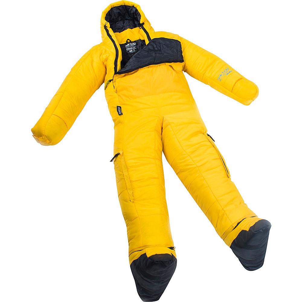 Selk bag Adult Original 5G Wearable Sleeping Bag Yellow Flare Medium Selk bag Outdoor Accessories
