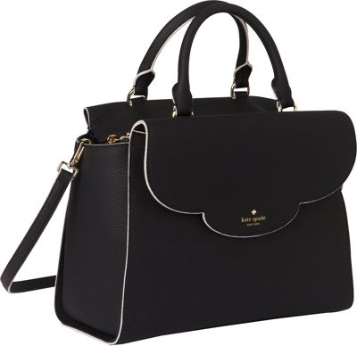 kate spade new york Leewood Place Makayla Satchel Black - kate spade new york Designer Handbags