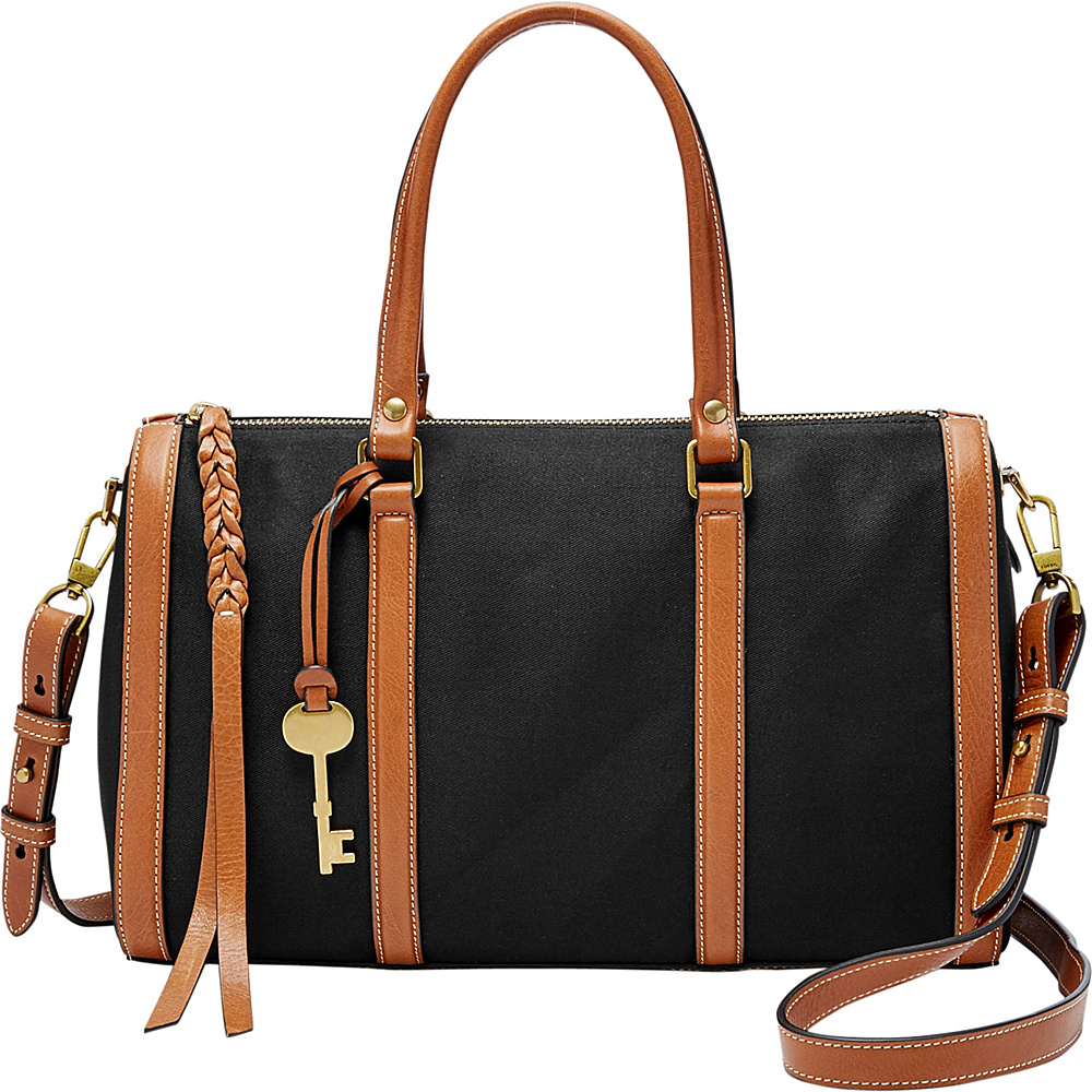 Fossil Kendall Satchel Black - Fossil Fabric Handbags - Handbags, Fabric Handbags