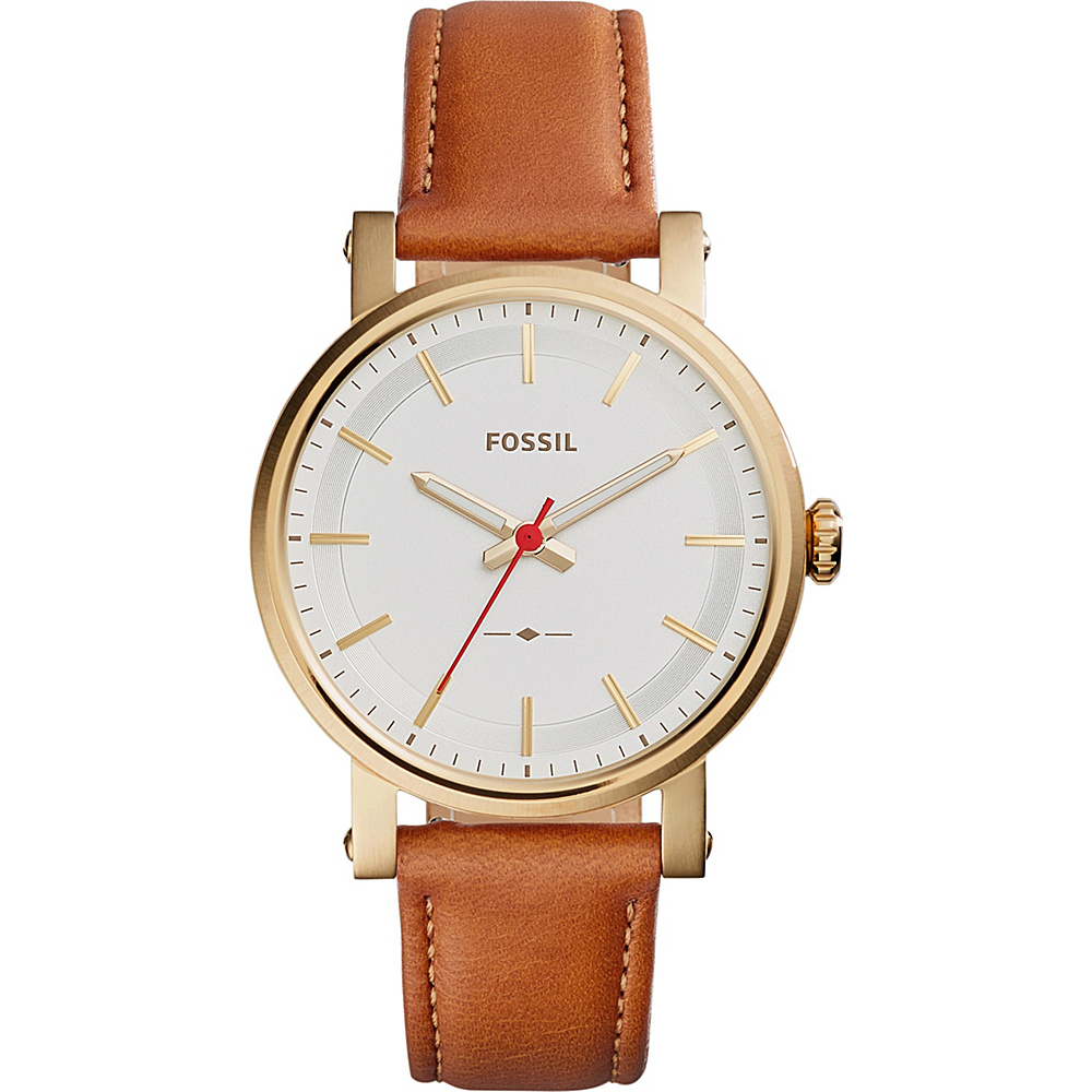 Fossil Original Boyfriend 3-Hand Leather Watch Dark Brown - Fossil Watches - Fashion Accessories, Watches