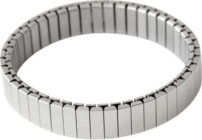 Rilee & Lo Stacking Bracelet for the Apple Watch - Satin - M/L Silver - Rilee & Lo Wearable Technology