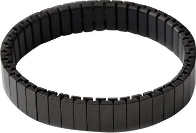 Rilee & Lo Stacking Bracelet for the Apple Watch - Satin - M/L Black - Rilee & Lo Wearable Technology